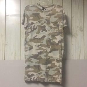 Forever 21 Camo T-Shirt Dress